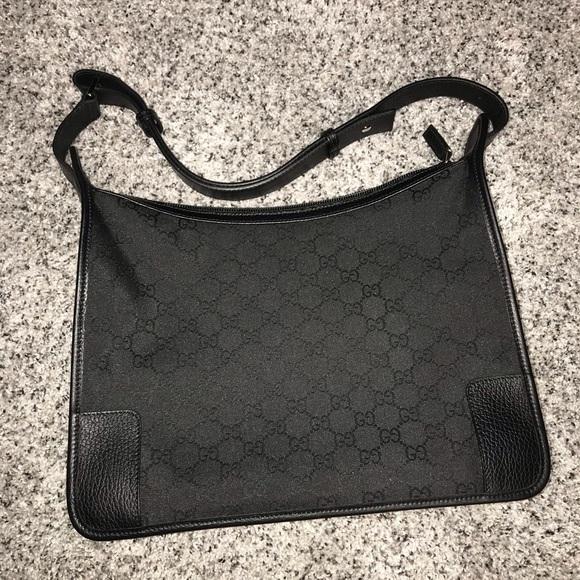 d4669f61c Gucci Bags | Authentic Black Gg Nylon Hobo | Poshmark